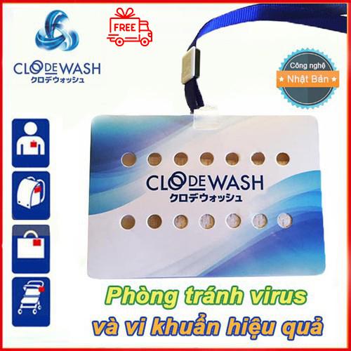 COMBO 5 thẻ kháng khuẩn Clodewash Nhật Bản